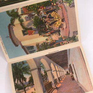 Vintage Wall Art - Vintage Santa Barbara CA Souvenir Postcard Book